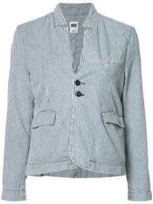 Пиджак в тонкую полоску NSF. Цвет: синий