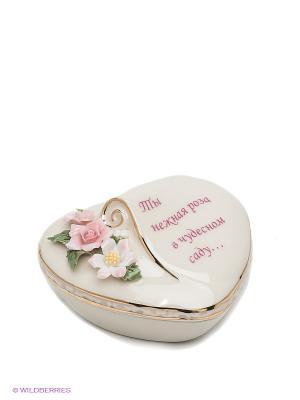 Шкатулка Любимой Pavone. Цвет: кремовый, розовый