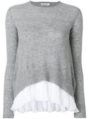 Джемпер с контрастной вставкой Dondup. Цвет: серый