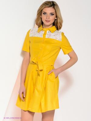 Платье La Via Estelar. Цвет: желтый