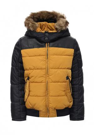 Куртка утепленная Catimini. Цвет: желтый