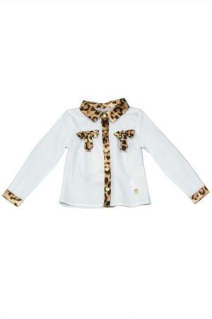 Блузка STEFANIA. Цвет: белый
