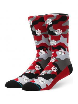 Носки DICE CAMO (FW17) Stance. Цвет: серый,красный