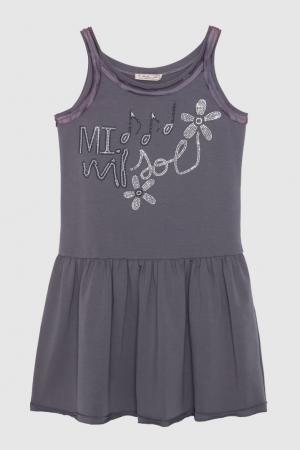 Платье Mi Sol. Цвет: темно-серый