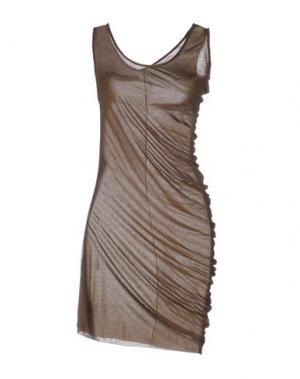 Платье до колена NOSTRASANTISSIMA. Цвет: коричневый