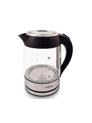 Чайник Starwind SKG4710, серебристый/черный. Цвет: серебристый