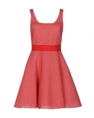 Короткое платье PINKO. Цвет: красный