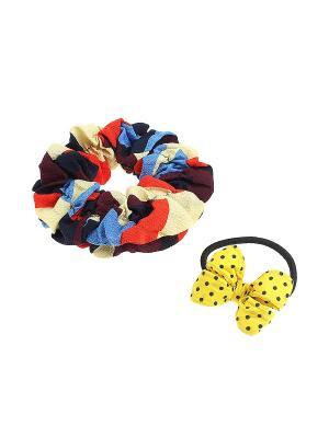 Комплект резинок для волос Gusachi. Цвет: желтый, красный, синий