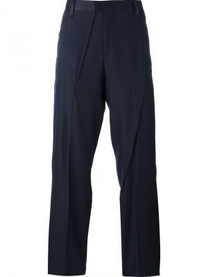 Строгие брюки Undercover. Цвет: синий