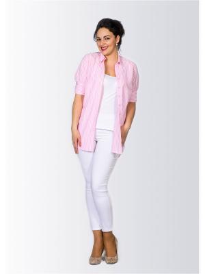Рубашка Лагуна. Цвет: розовый
