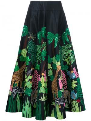 Длинная юбка Safari Manish Arora. Цвет: чёрный