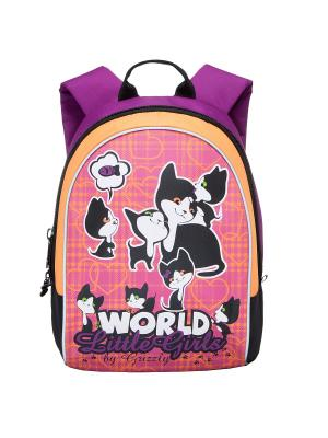 Рюкзак Grizzly. Цвет: фиолетовый, фуксия