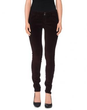 Повседневные брюки MELTIN POT. Цвет: красно-коричневый