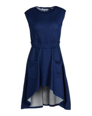 Короткое платье WHITE TENT. Цвет: синий