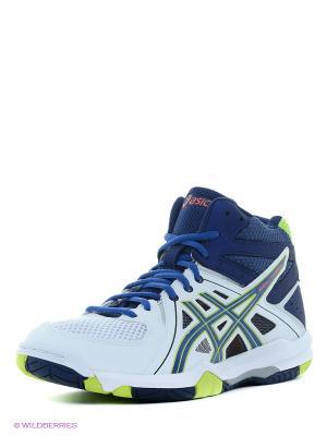 Волейбольные кроссовки GEL-TASK MT ASICS. Цвет: белый, синий, зеленый