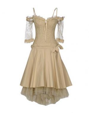 Платье длиной 3/4 X'S MILANO. Цвет: бежевый