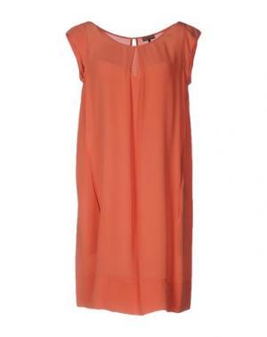 Короткое платье MALÌPARMI. Цвет: лососево-розовый