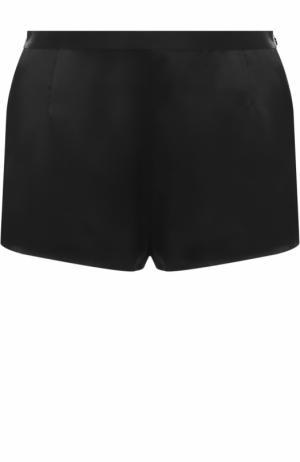 Шелковые мини-шорты с эластичным поясом La Perla. Цвет: черный