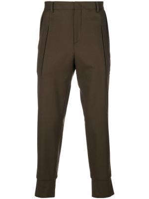 Классические брюки с эластичными манжетами Wooyoungmi. Цвет: зелёный
