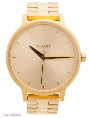 NIXON Наручные часы Kensington All Gold (A099). Цвет: золотистый