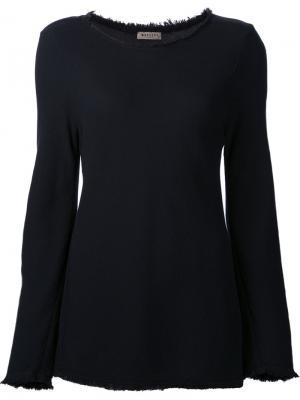 Блузка с необработанными краями Masscob. Цвет: синий