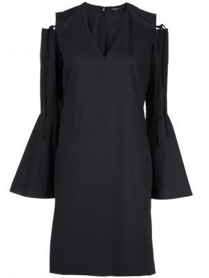 Платье с вырезными деталями на плечах Derek Lam. Цвет: чёрный