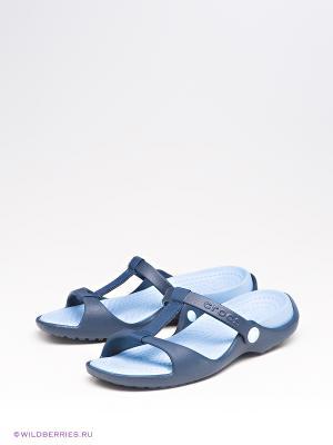 Шлепанцы CROCS. Цвет: синий, голубой