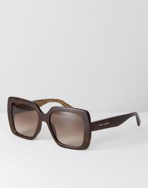 Marc Jacobs Большие черепаховые квадратные солнцезащитные очки 230/S. Цвет: черный