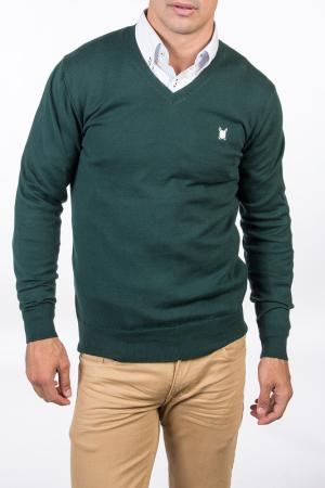 Пуловер POLO CLUB С.H.A.. Цвет: dark green and white