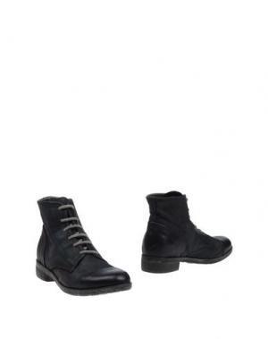Полусапоги и высокие ботинки HANGAR. Цвет: стальной серый