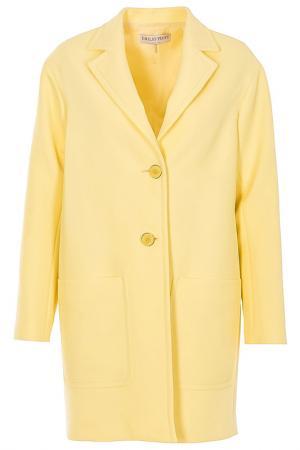 Пальто Emilio Pucci. Цвет: желтый