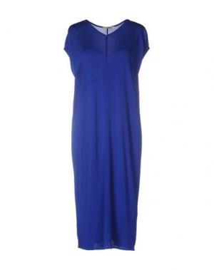 Платье до колена BARBON. Цвет: синий