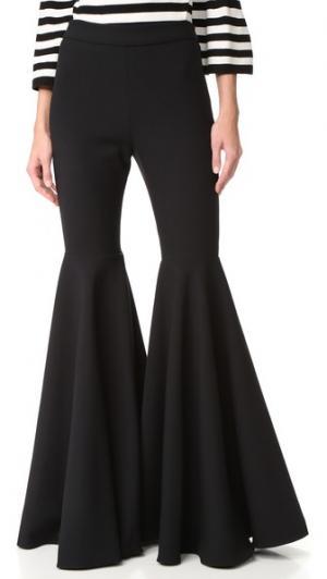Расклешенные брюки из ткани двойного переплетения Milly. Цвет: голубой