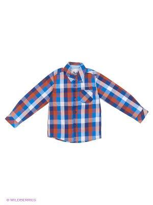 Рубашка Cherubino. Цвет: синий