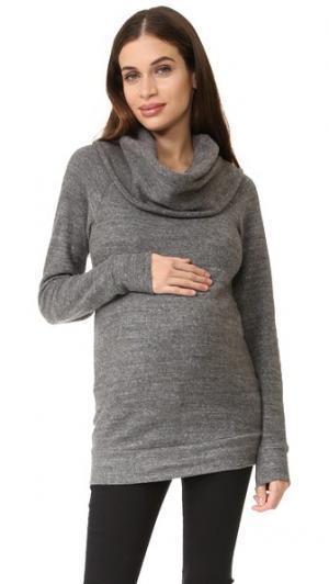 Толстовка для беременных с воротником-хомутом Ingrid & Isabel. Цвет: серый меланжевый