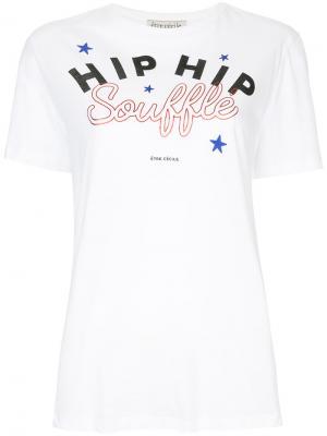 Souffle print T-shirt Être Cécile. Цвет: белый