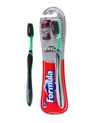 Зубная щетка с угольным нано волокном FORMULA Platinum Protector Nano Charcoal FORMULA.. Цвет: черный