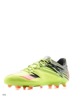 Футбольные бутсы (для тверд.п.) муж. MESSI 15.1 Adidas. Цвет: зеленый, черный