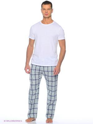 Домашние брюки YC COTTON. Цвет: зеленый