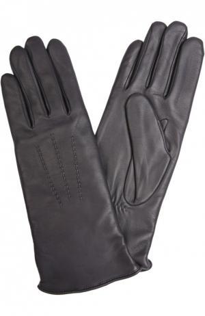 Кожаные перчатки Agnelle. Цвет: темно-серый