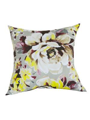 Декоративная подушка Марта LACCOM. Цвет: бордовый, белый
