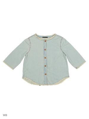 Рубашка Sisley Young. Цвет: светло-голубой