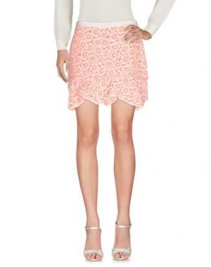 Мини-юбка ISSA. Цвет: коралловый