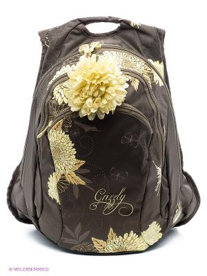 Рюкзак Grizzly. Цвет: черный, светло-желтый