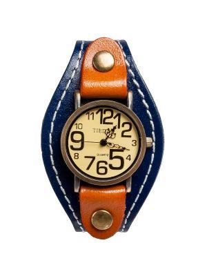 Браслет-часы Классика синий/коричн Art East. Цвет: синий, коричневый