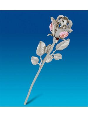 Фигурка Цветок посеребр. с цв.кр. Юнион. Цвет: золотистый