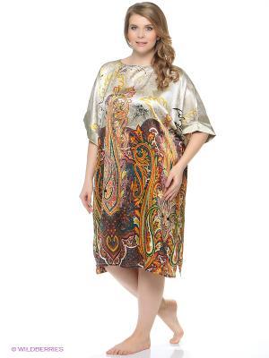 Платье - туника Del Fiore. Цвет: красный, светло-серый, черный