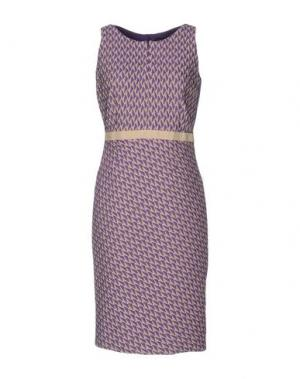 Платье до колена MALAICA. Цвет: фиолетовый