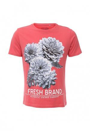 Футболка Fresh Brand. Цвет: розовый