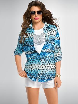Блузка PELICAN. Цвет: синий, голубой